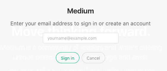 geen wachtwoord nodig op medium.com